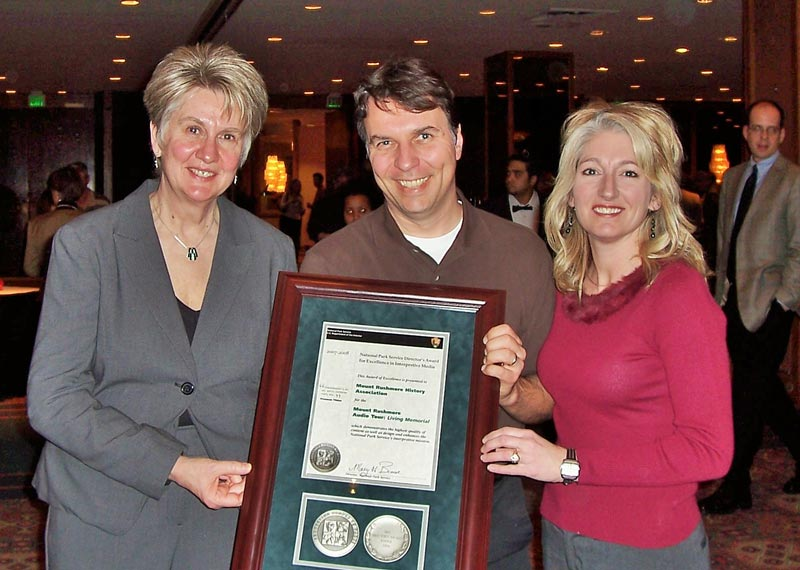 Q Media client projects have won numerous awards over the years. Pictured here: the National Park Service Director's Award for Excellence.