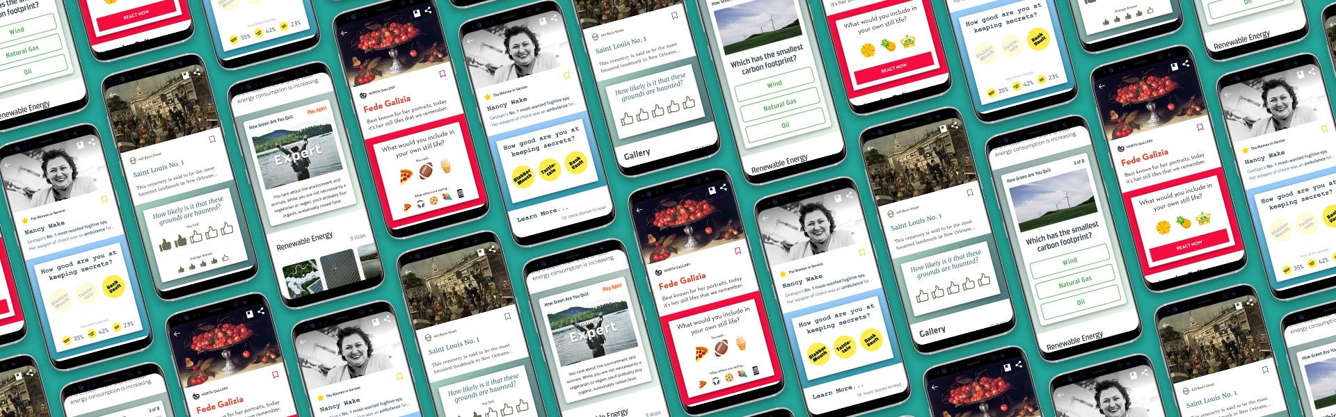 Rate, vote, emoji response, and personality quiz for museums