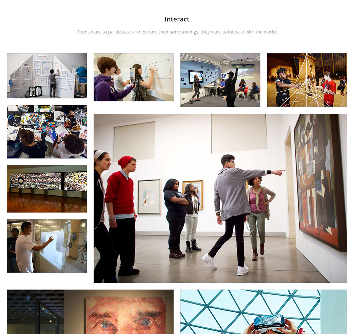 Mood boards for museums