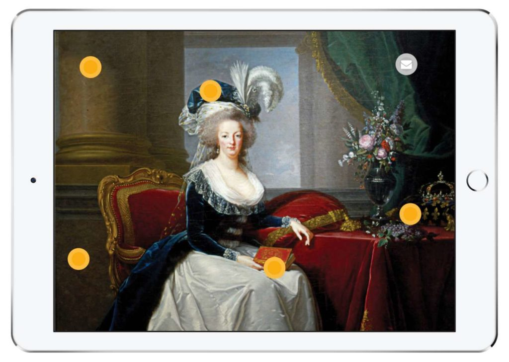 "New Orleans Musem of Art - Digital Label - Hotspot Page for ""Portrait of Marie Antoinette"" by Vigee-Lebrun"