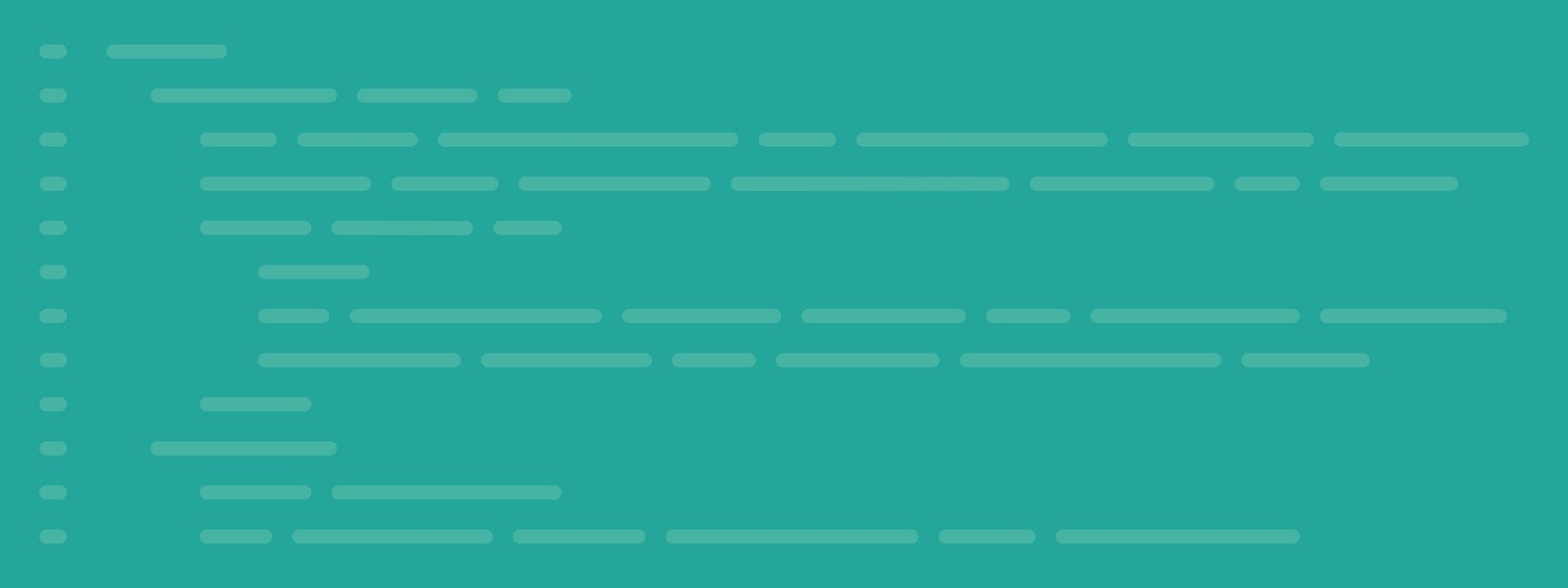 Green background with light green lines representing backend code